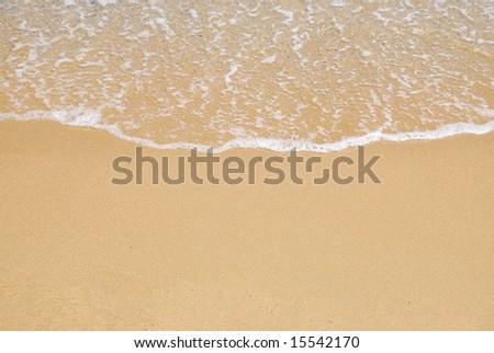 beach sand and sea - stock photo