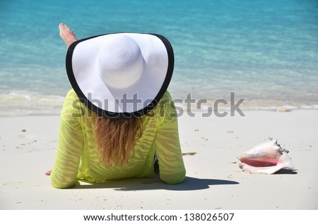 Beach scene - stock photo