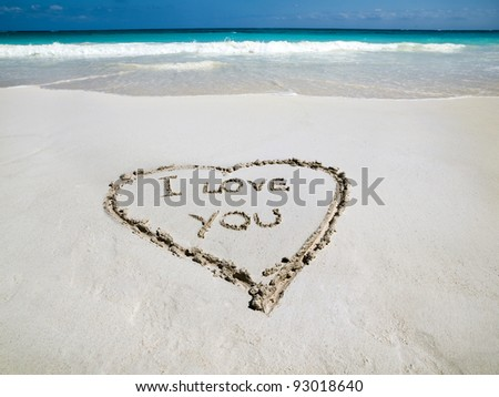 Beach side heart  Valentine's day - stock photo