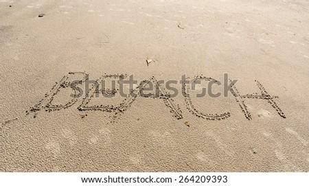 Beach sign - stock photo