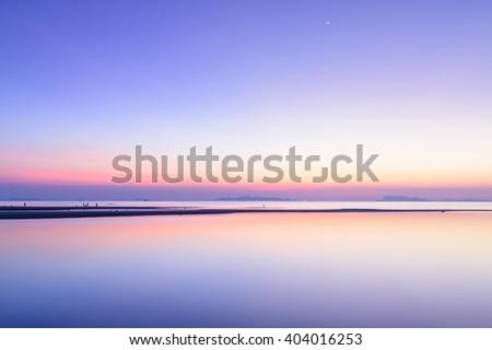 Beach  sunset sky and tropical sea background,Samui island - stock photo