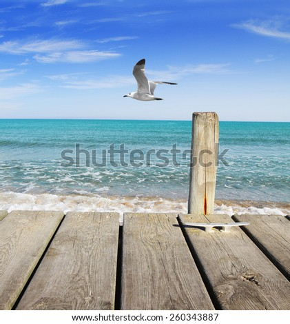 beach vacation - stock photo
