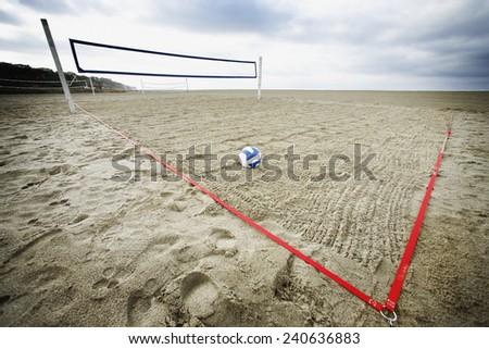 Beach Volleyball Court - stock photo