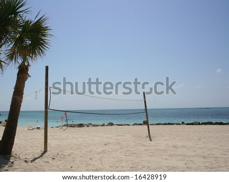 Beach Volleyball Net - stock photo