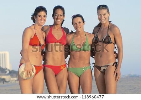 Beach Volleyball Team - stock photo