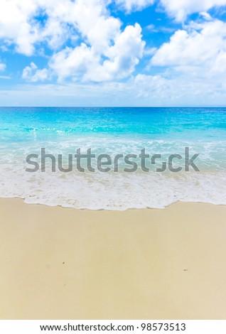 Beach Waves Scene - stock photo