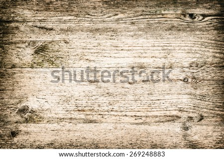 Beach wood textured background panel horizontal neat and light color bleached brown - stock photo