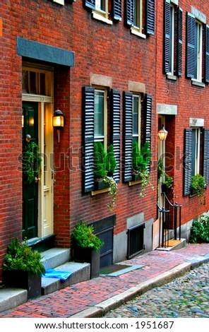 Beacon Hill, Boston - stock photo