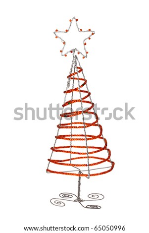 Bead work Christmas tree - stock photo