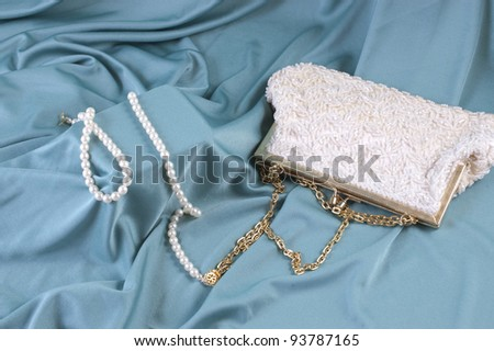 Beaded Evening Bag - stock photo