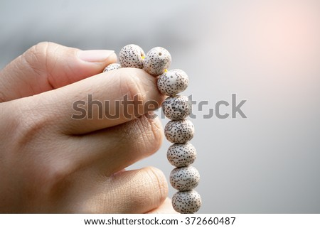 beads Rosary - stock photo