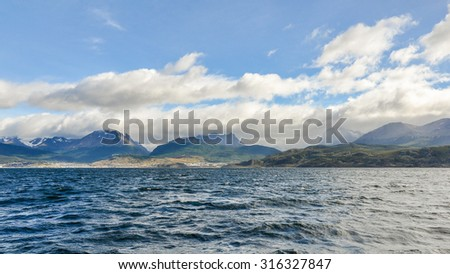 Beagle Channel, Ushuaia, Argentina - stock photo