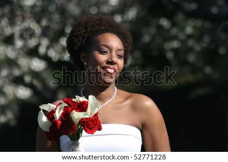 Beaming Bride - stock photo