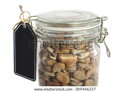 Beans in glass jar for background use - stock photo