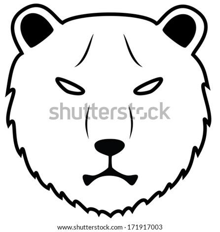 Bear head - stock photo