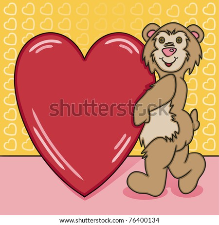 Bear Heart Too - Raster Version - stock photo