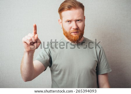 bearded man fingerprints of the invisible - stock photo