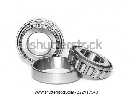 Bearing for industry on the white background. - stock photo