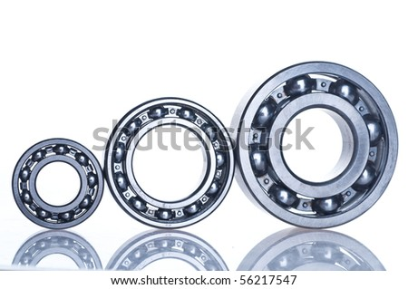 bearing  tool. isolated on white - stock photo