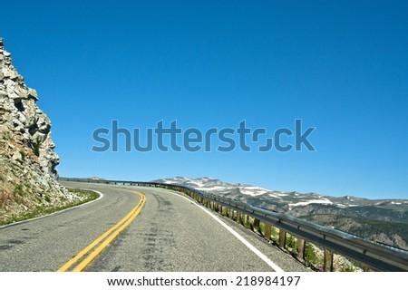 Beartooth Highway - stock photo
