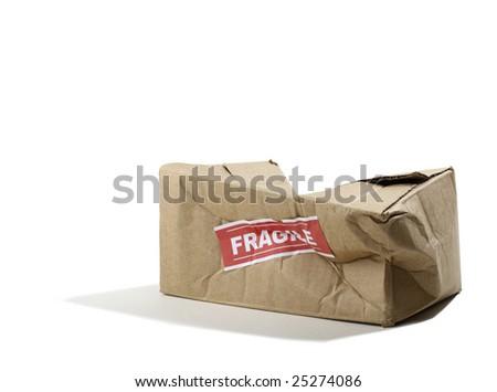 Beat up Cardboard Box - stock photo