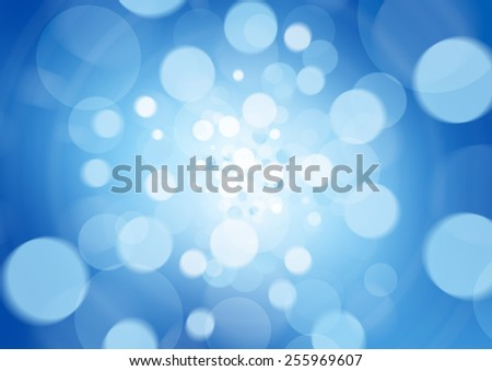 beatiful blue abstract light background defocused - stock photo
