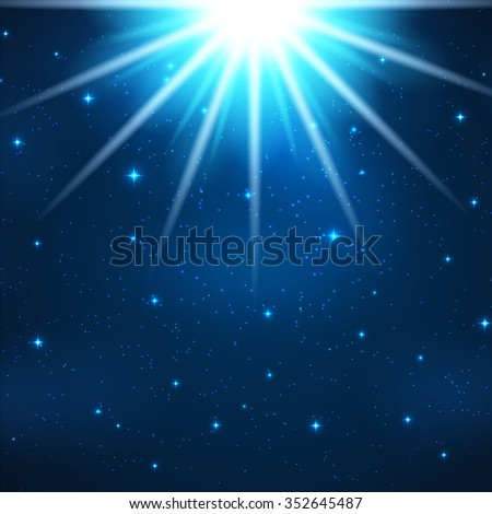 Beautiful Abstract Blue Magic Light Background Illustration  - stock photo