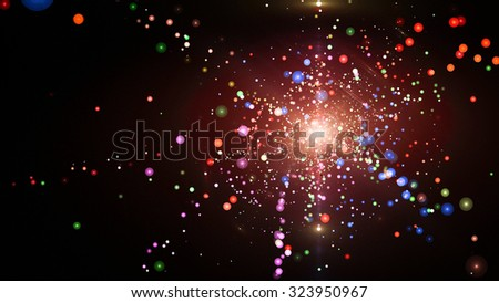 beautiful abstract fantasy star background  - stock photo