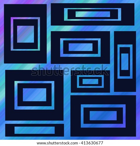 Beautiful abstract geometrical design ideal for background, banner. - stock photo