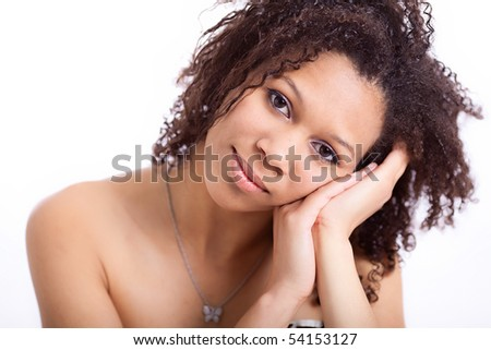 Beautiful African-American girl - stock photo
