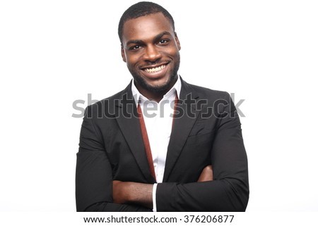 Beautiful african business man - stock photo