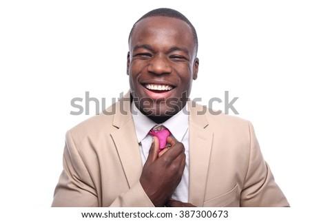 Beautiful african businessman - stock photo