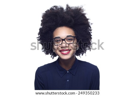 Beautiful afro woman - stock photo