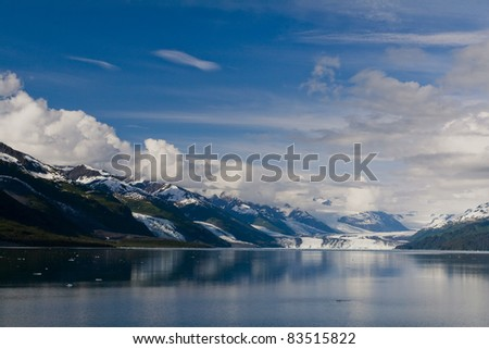 Beautiful afternoon at College Fjord - stock photo