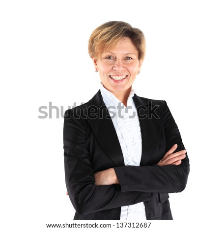 Beautiful and charming business woman. - stock photo