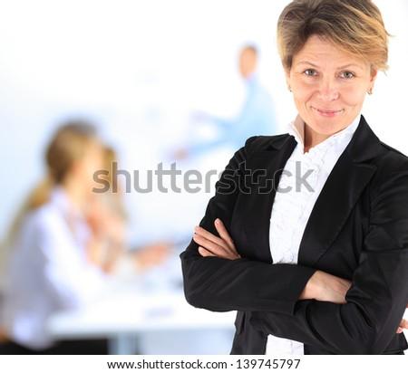 Beautiful and charming business woman. - stock photo