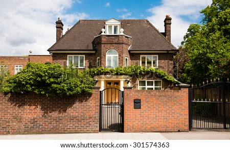 Beautiful and elegant home in London - stock photo