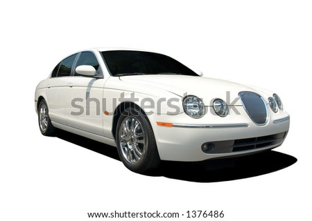 Beautiful and expensive European luxury car isolated on a white background. Look in my gallery for more car photos like this. - stock photo