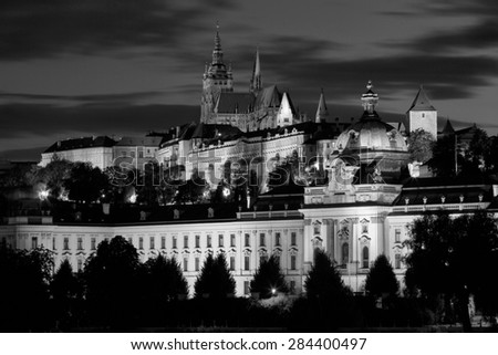 beautiful and historic Prague, the capital of the Czech Republic - stock photo