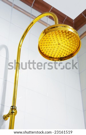 Beautiful and modern shower in a bathroom - stock photo