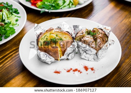 Beautiful and tasty food - stock photo