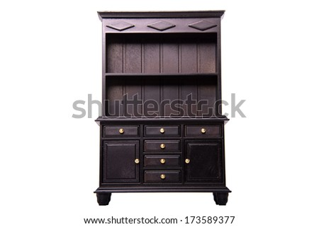 Beautiful antique furniture on white background - stock photo