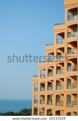 Beautiful apartment in the landscape - stock photo