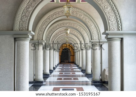 Beautiful Arched walkway - stock photo