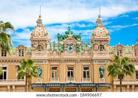 Beautiful architcture of the Grand Casino in Monte Carlo, Monaco. - stock photo