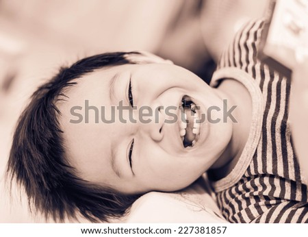 beautiful asian boy - stock photo