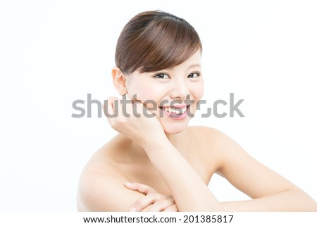 Beautiful asian woman isolated  - stock photo
