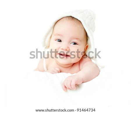 beautiful baby - stock photo