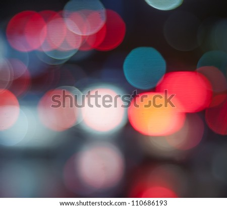 Beautiful background on dark, out of Focus Lights during the Night. - stock photo