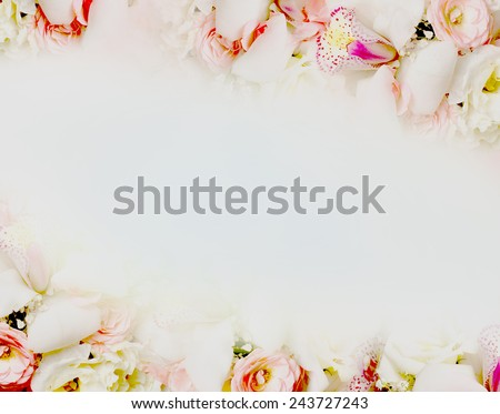 beautiful background with blossom - stock photo